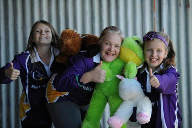 Gearing up for Relay for Life in Hervey Bay in October is the G-Force team, Kyra Hughes, Chelsea Roberts and Kaydence Goldsmith, which will be raising money for Cancer in honour of their grandad, Eddie Hughes.