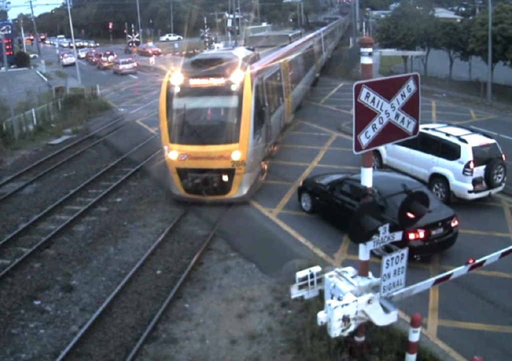 JUST IN TIME: Drivers stop just short of disaster at Coopers Plains, the worst incident hotspot on the QR city network. Ipswich residents are urged to take care during the school holidays.