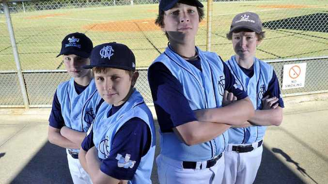 BIG TOURNAMENT: (From left) Far North Coast players Josh Healy, Sam Parsons, Ethan Elliott and Connor Wyles are keen to participate in the Timberjacks carnival at Albert Park.