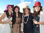 Dressed to impress at the Condamine Cods' Ladies' Day are Kristelle Townsend with Sarah, Shelby and Heather Worthing.
