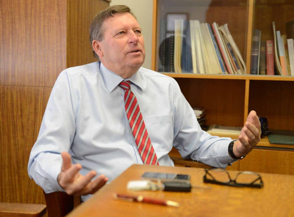 RATES RISE: Scenic Rim mayor John Brent handed down the region's budget yesterday.