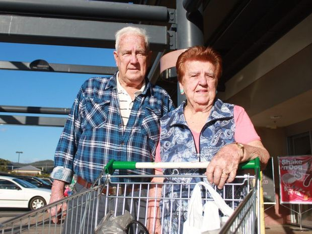 Rockhampton's Marie and Leonard Mahon shop around for the best bargains when they do their groceries each fortnight. Photo Michelle Gately / Morning Bulletin