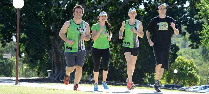 STEP TO IT: Tim Henriksen, Olivia Wright, Paige Pollock and Jackson Wright prepare for Park2Park.