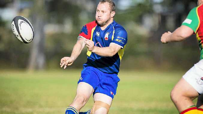 GOOD FORM: Gladstone's captain, Aubre Harmse, in action during the Gladstone Goats versus Dawson Valley Rugby Union match at Meteors Sport Park, Gladstone.
