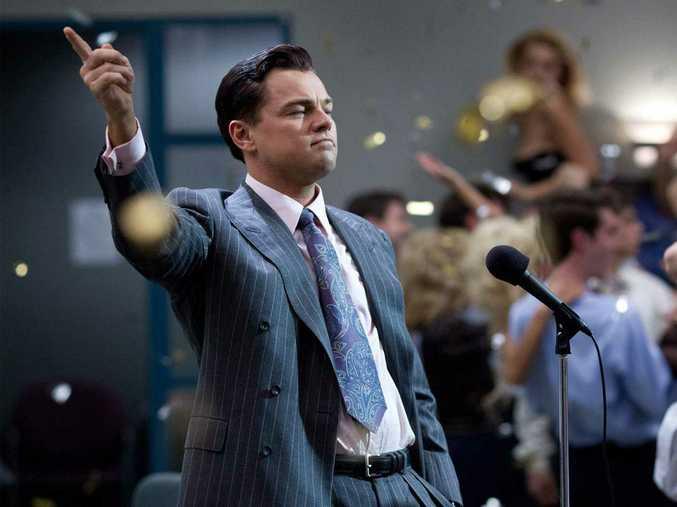 Leonardio DiCaprio as Jordan Belfort in The Wolf of Wall Street.