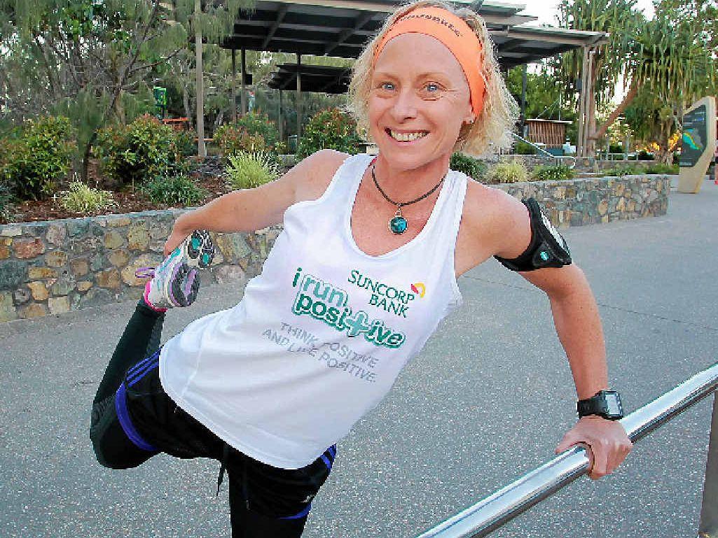 Janelle Hooper is tackling the Gold Coast half-marathon tomorrow.
