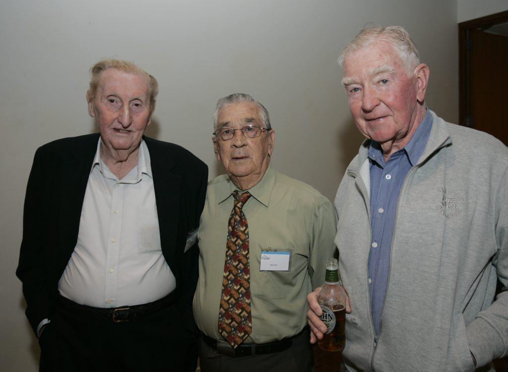Colin Gabel, Norm Fox, Geoff Webster - Rockhampton Art Gallery Racing Enthusiasts lunch. Photo Sharyn O'Neill / The Morning Bulletin ROK200711srac4