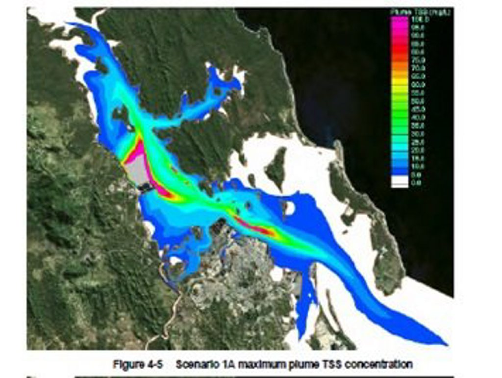Predicted Dredge Plume Source: Western Basin Dredging EIS Appendix K Numerical Modelling Studies' p.4-16.