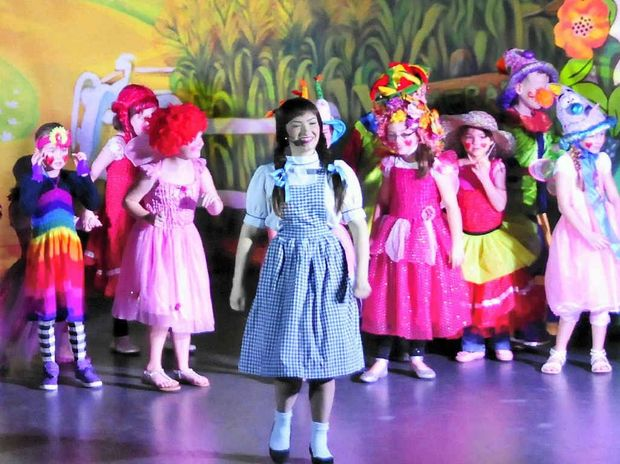 BRIGHT: Children had fun playing munchkins in an interactive performance of Wizard of Oz.