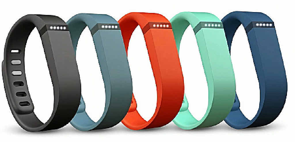FLEX YOUR ATTITUDE: The Fitbit Flex comes in a variety of colours.