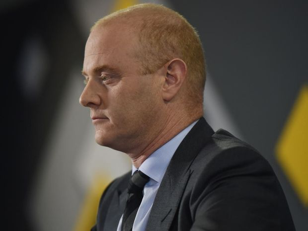 Commonwealth Bank of Australia CEO Ian Narev addresses the media during a press conference in Sydney, Thursday, July 3, 2014. Mr. Narev was discussing a Senate report which slammed the bank and corporate regulator over their responses to claims of fraud and misconduct by some CBA financial planners.