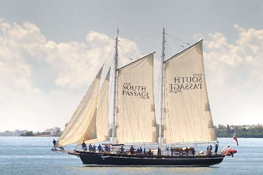 Brisbane to Gladstone yacht race - Tall ship South Passage. Photo Mike Richards / The Observer