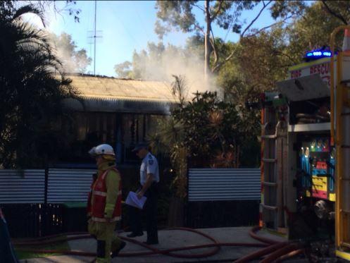 Fire at Mt Coolum. Photo: Megan Mackander.