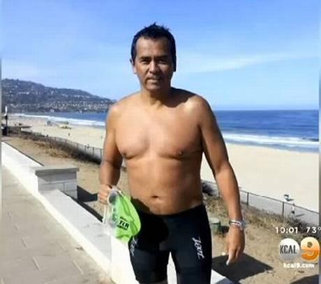 Shark attack victim Steven Robles, 40.