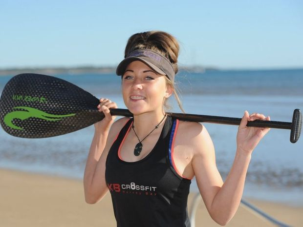 Mereana Patara - member of the Australian junior womens squad in outrigging.