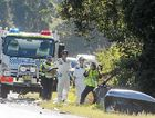 FIERY ENDING: Two people died after a two car collision at Pimlico on the pacific Hwy early on Saturday morning.