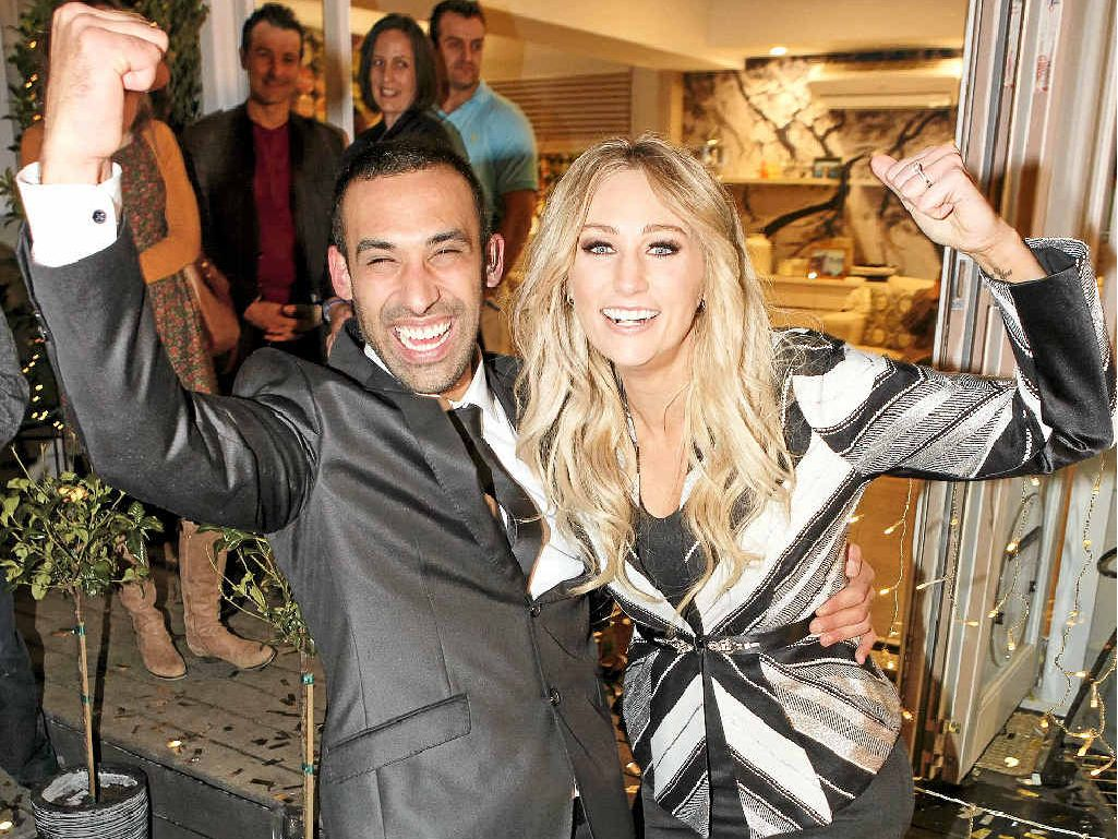 VIEWERS' CHOICE: Adam Dovile and Lisa Lamond celebrate their House Rules win.