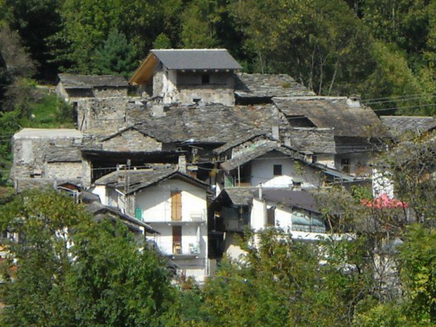 The Alpine village of Borgata Calsazio has been put on Ebay at a cost less than the average house price in Britain (but it needs some renovation work)