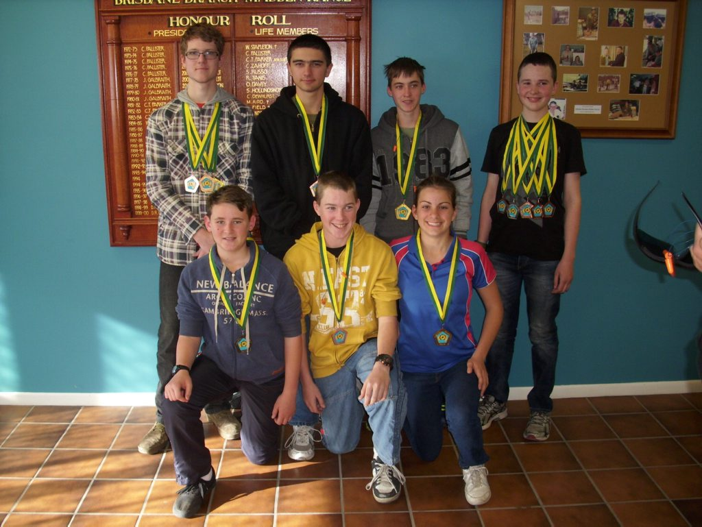 Members of the Australian Army Cadets Gatton Unit who won medals at the Australian Shooting Games Junior Shoot that was held at the SSAA Brisbane Range in Belmont on July 1 and 2.