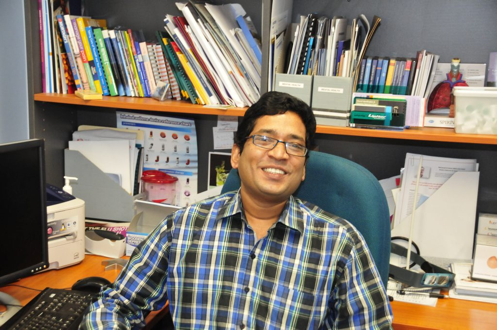 Dr Chandra Rayi has swapped snow for sunshine in his recent relocation to Gladstone.