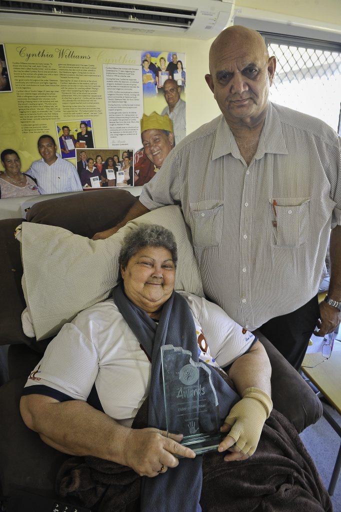 2014 NAIDOC Elder of the Year Cynthia Williams and husband Cedric.