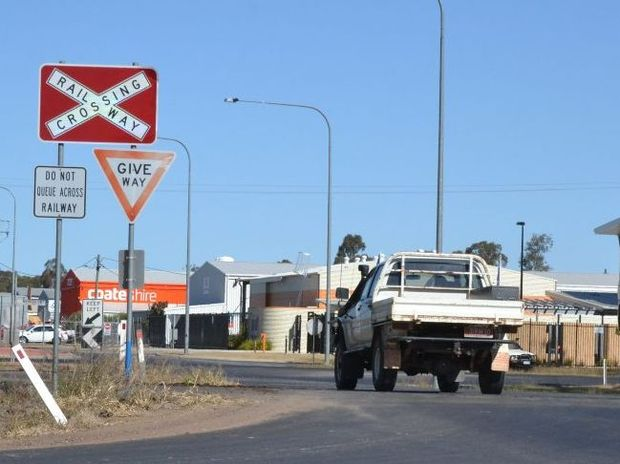 CROSSING DANGER: Chinchilla's Cemetery Rd level crossing is one of the most dangerous in South West Queensland.