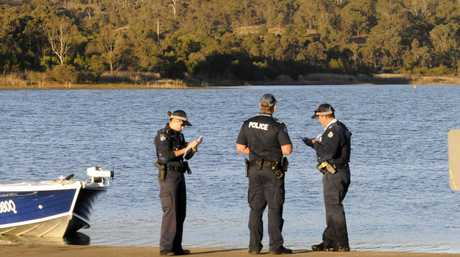 A man in his seventies is missing after slipping in the mud at Cooby Dam.