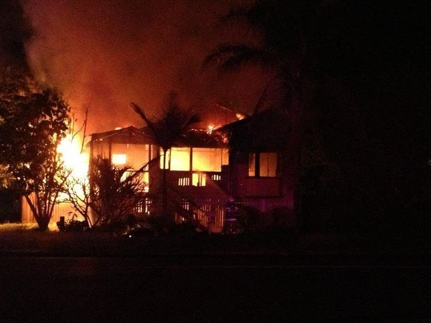 A fire has gutted an unoccupied home in Maryborough.