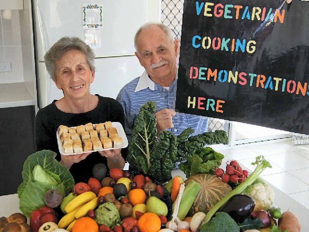 YUM: Irena Wojnar and Pastor Ernest Wojnar will have expert Dr Anthony Espinet present and will then hold cooking demonstrations through the Seventh-day Adventist Church to encourage healthy eating.