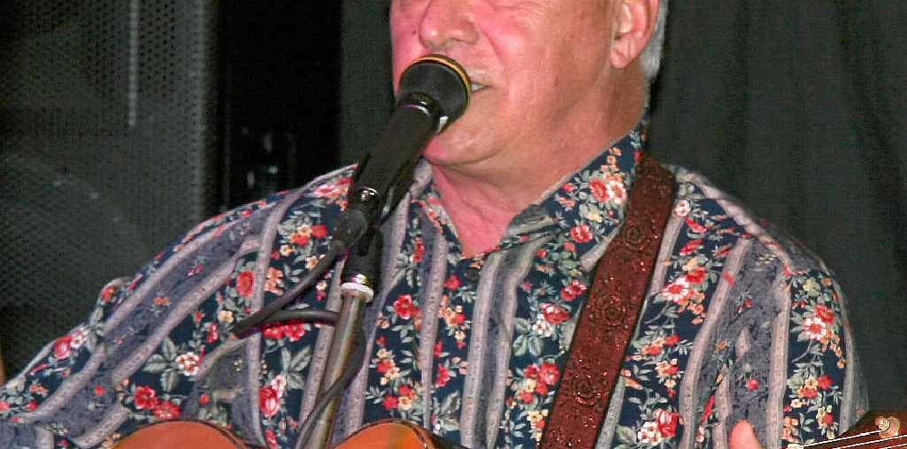 MAYOR OF MUSIC: Bill Ludwig on guitar and vocals during the new musicians' blackboard night at KBSC.