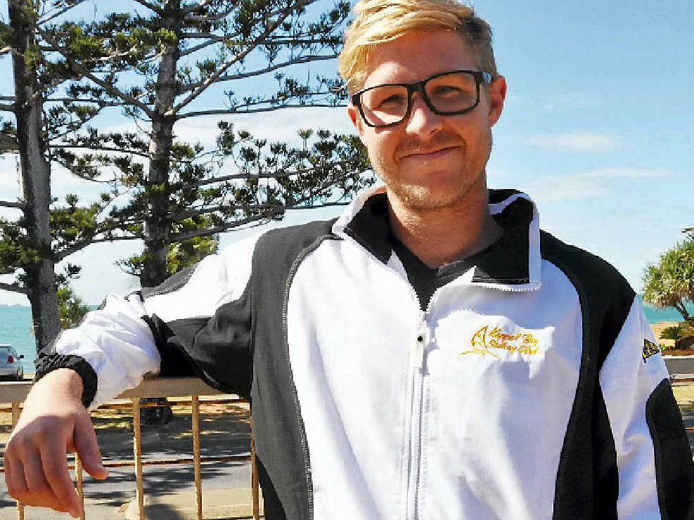 BACK ON THE WATER: Brent Pearson, of Yeppoon, is fit, healthy and ready for the World Moth Sailing Championships in England.