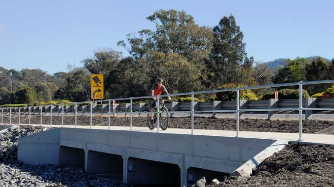 A shared pedestrian cycleway along the pacific Hwy from Thompsons Rd to Boambee has been completed.