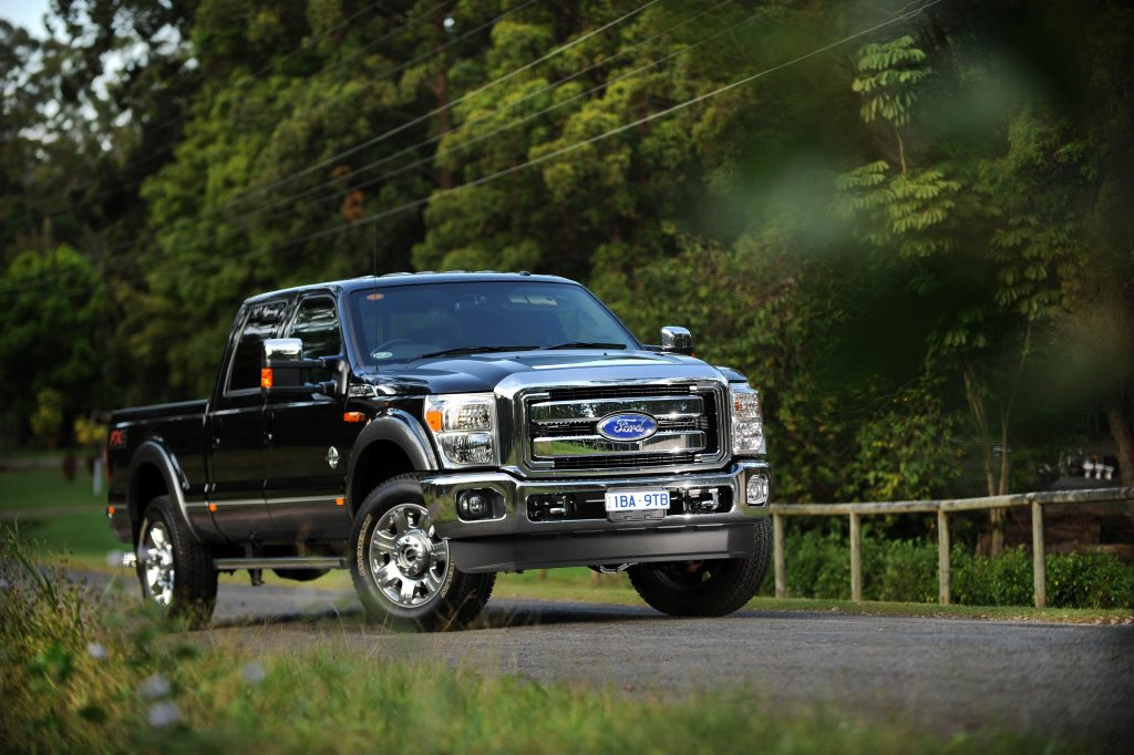 The Ford F-250 Super Duty Lariat SWB Pick-up.