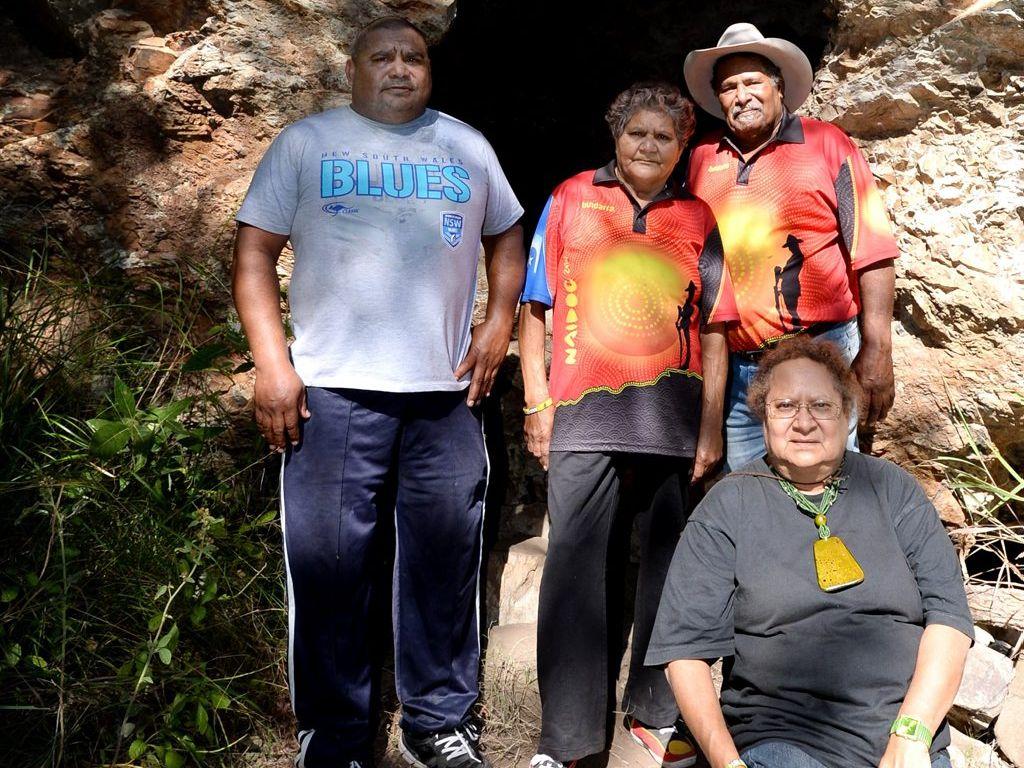 Darren Mann, Venita Mann, Billy Mann and Sally Vea Vea at Gawula. Photo Allan Reinikka / The Morning Bulletin