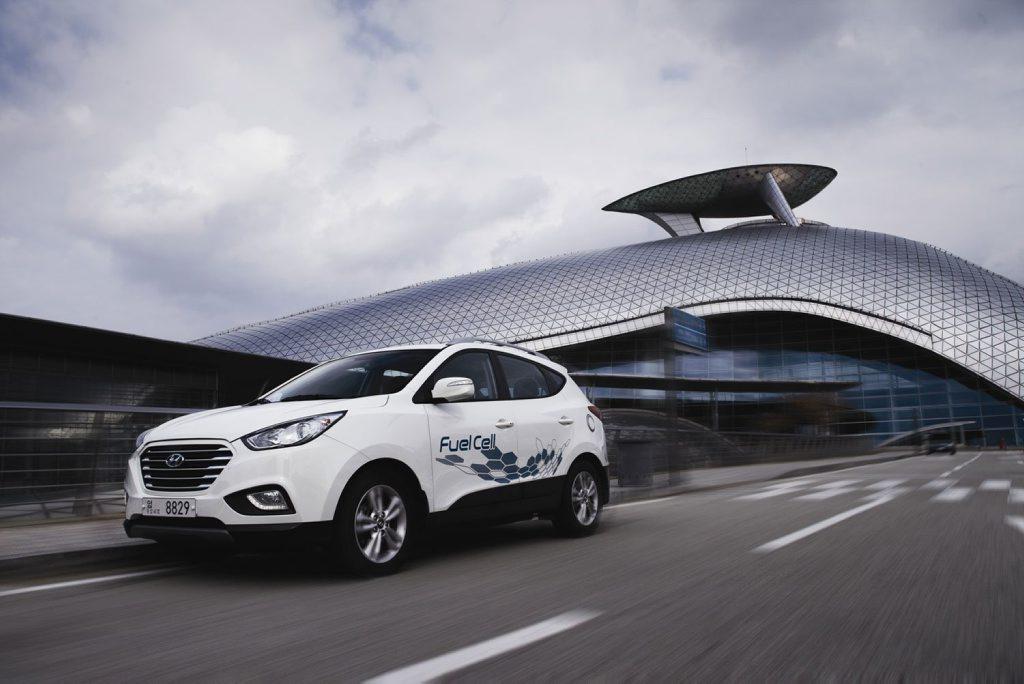 The Hyundai ix35 Fuel Cell.