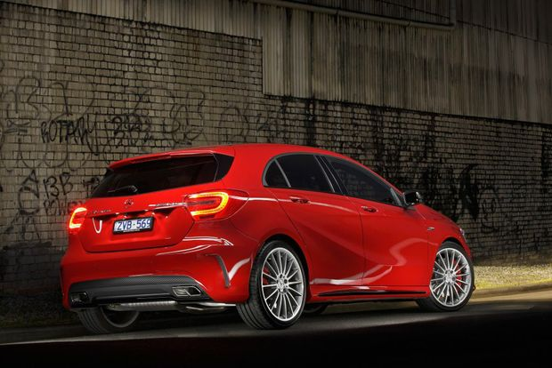 The Mercedes-Benz A45 AMG.