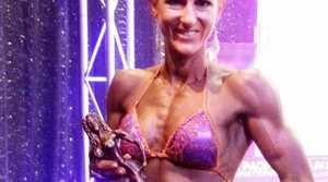 Body Boutique member Megan Axelsen of Karalee overcame anorexia to achieve success in the Australian Natural Physique Championships. Photo: Contributed