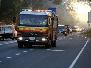 Multiple crews monitoring fire at Woorim