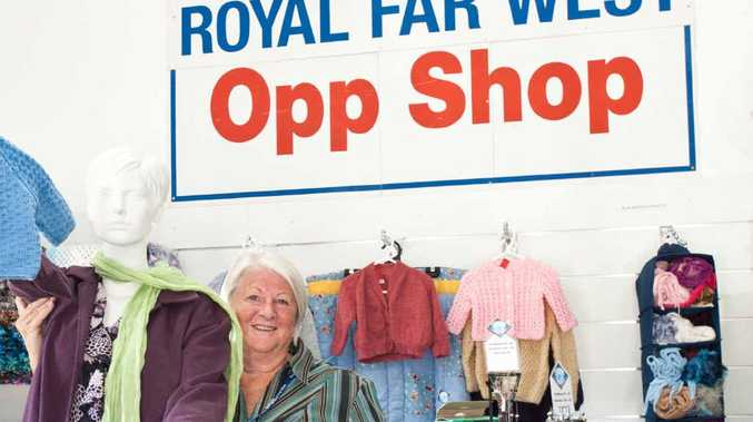 HELP NEEDED: The call has gone out for volunteers to help out at the Royal Far West Opp Shop. Pictured is Ann Frost in the sales outlet on the corner of West High and Moonee Sts.