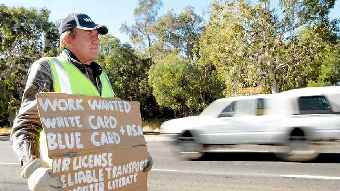 Graham Smyth, 54, is surviving on $73 a fortnight and is desperate to get some regular work.