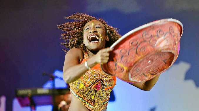 STAGE: Singer and dancer Theresa Muteta from Cirque Mother Africa.
