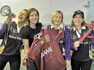 Auction to help kick goals in cancer fund push