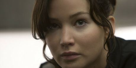 Jennifer Lawrence as Katniss Everdeen in The Hunger Games movies.