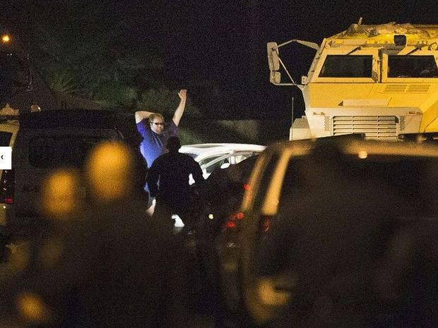 Police arrested the suspect after a two hour standoff