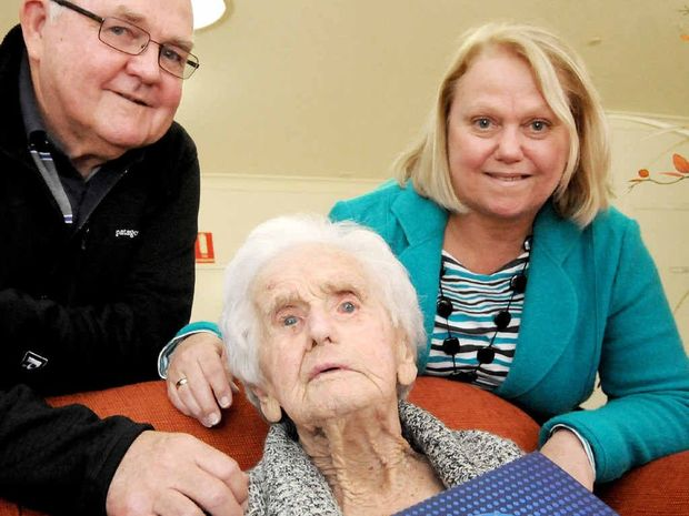Winifred Mary Fawcett will celebrate her 100th birthday with her son Brian and daughter Margaret Foster on Sunday at Crowley aged care in Ballina.