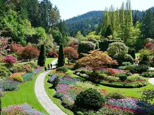 Canada's Butchart Gardens were built in an abandoned quarry more than 100 years ago and now attract almost a million tourists every year.