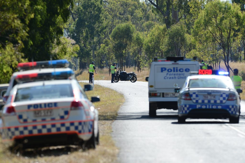Police are at the scene of a fatal motorcycle crash near Lake Wivenhoe.