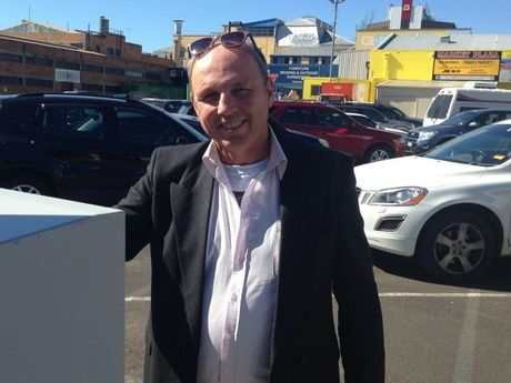 Peter Mowett was stung with a fine in the carpark behind Chemist Warehouse.