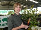 Queensland Garden Expo at the Nambour Showgrounds (Friday 11/07): Reilly Smith from Go Green Rainforest Nursery with his Alexandrine parrot, Luis. Photo: Brett Wortman / Sunshine Coast Daily