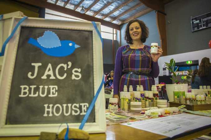 Jacqui Smith of Jac's Blue House at the first PCYC markets, held at the Gladstone PCYC in July.